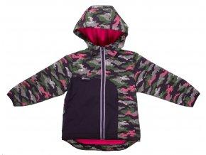 Zimní softshellová bunda Neon růžová. Kojenecká a dětská bunda. Maskáč růžový. Zimní softshellová bunda na zip s kapucí. Kojenecké a dětské oblečení. Kvalitní české oblečení. Oblečení pro miminka. Maskáč neon.