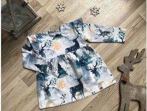 Kojenecké šaty Zimní les