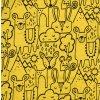 Kojenecké body Hippokids Animals hořčice.Body s dlouhým rukávem pro děti.Kvalitní oblečení pro miminka a pro děti. Body se zvářátkama. Česká výroba oblečení. Body,tepláčky,soupravy,kalhoty. Detail.