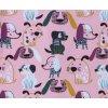Kojenecký zateplený kabátek Pejsek růžová. Zimní a podzimní kabátek pro miminka. Růžový kabátek. Vrchní bundička. Motiv s pejsky. Rozepínání na patentky. Růžový kabátek pro holčičky. Počesané oblečení. Miminka. Mo