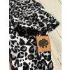 Kojenecké body s dlouhým rukávem Gepard černá