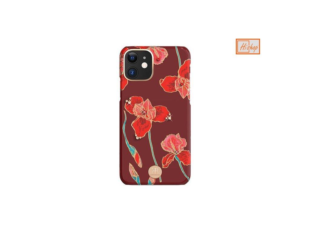 pol pm Kingxbar Blossom etui ozdobione oryginalnymi Krysztalami Swarovskiego iPhone 11 wielokolorowy Kapok 62159 1