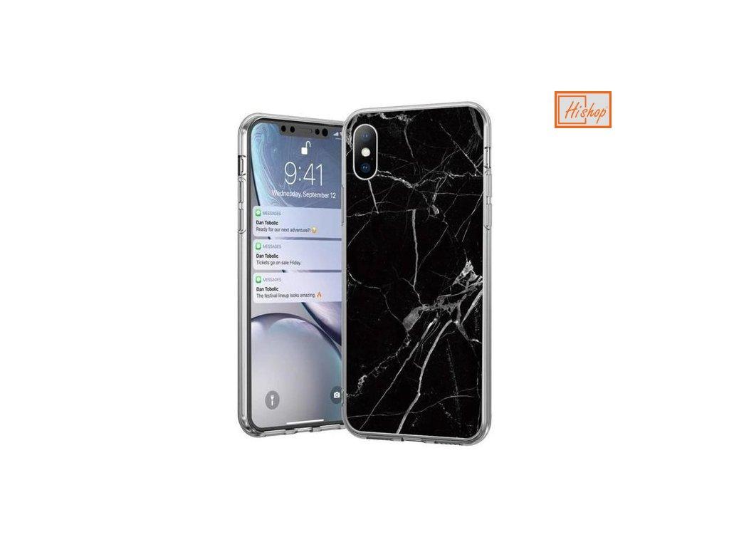 pol pm Wozinsky Marble zelowe etui pokrowiec marmur iPhone 12 Pro iPhone 12 czarny 62329 1