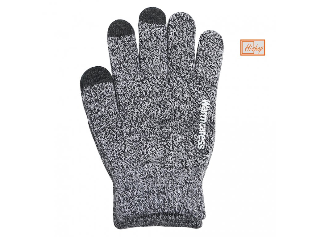 eng pl Universal Touchscreen Winter Gloves Striped Gloves with Anti Slip Grip light grey 27347 1