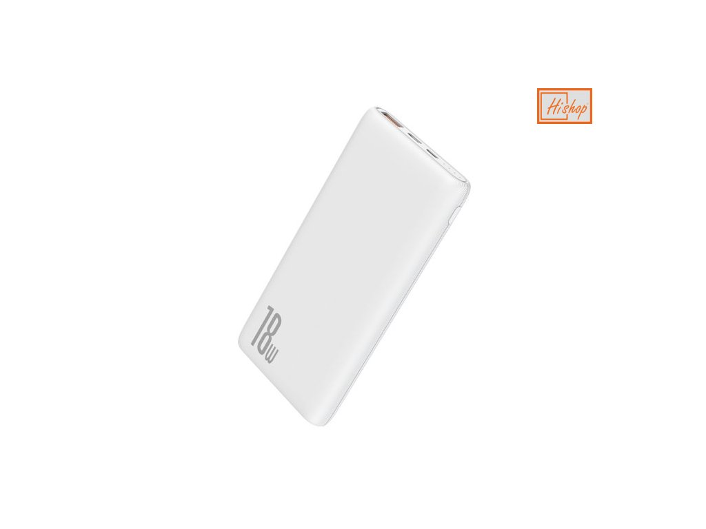eng pm Baseus Bipow power bank 10000mAh 2x USB 1x USB Typ C Power Delivery 18W Quick Charge 3 0 bialy PPDML 02 56054 1