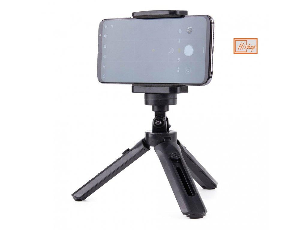 eng pl Mini Tripod with phone holder mount selfie stick camera GoPro holder black 59655 14