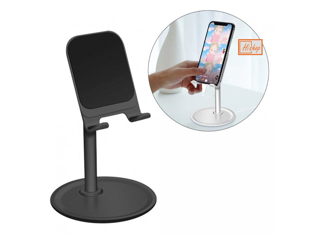 eng pl Telescopic Desktop Bracket phone tablet holder black K3S 62962 1