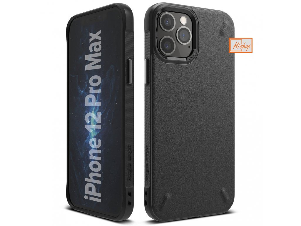 eng pl Ringke Onyx Durable TPU Case Cover for iPhone 12 Pro Max black OXAP0023 63926 1