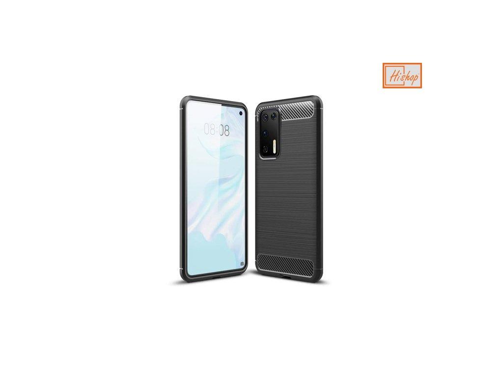 pol ps Carbon Case elastyczne etui pokrowiec Huawei P40 czarny 59741 1