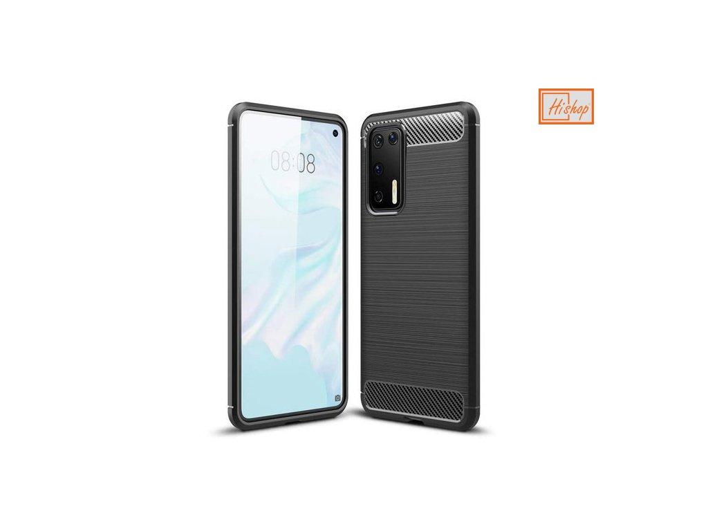pol pm Carbon Case elastyczne etui pokrowiec Huawei P40 Pro czarny 59739 1