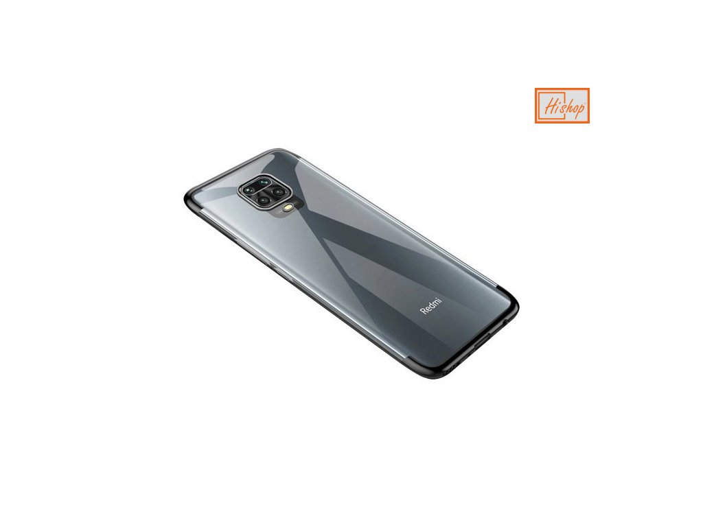 eng pm Clear Color Case Gel TPU Electroplating frame Cover for Xiaomi Redmi 10X 4G Xiaomi Redmi Note 9 black 62528 1