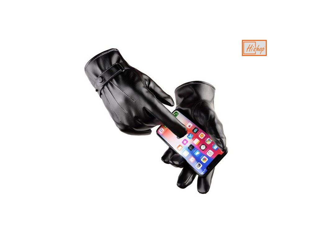 eng pm Mens winter gloves for a touchscreen smartphone black 63014 1