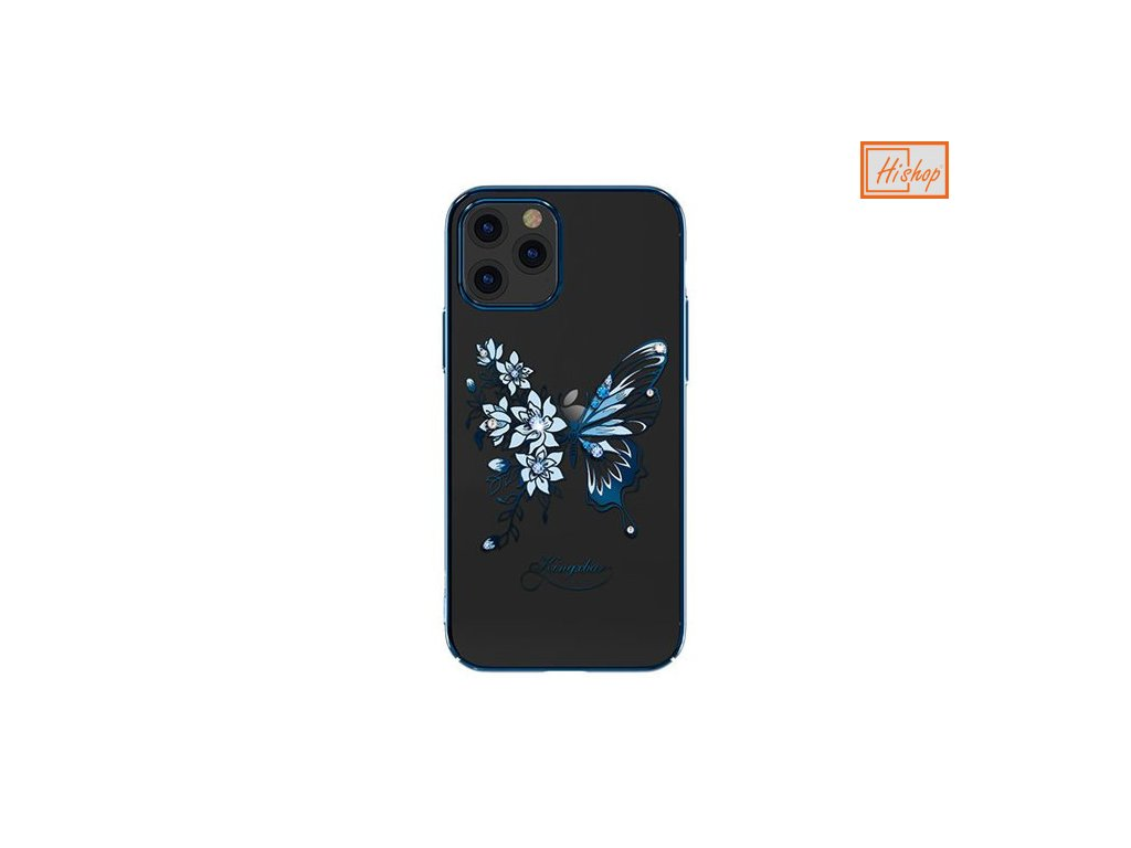 eng pm Kingxbar Butterfly Series shiny case decorated with original Swarovski crystals iPhone 12 Pro Max blue 63185 1