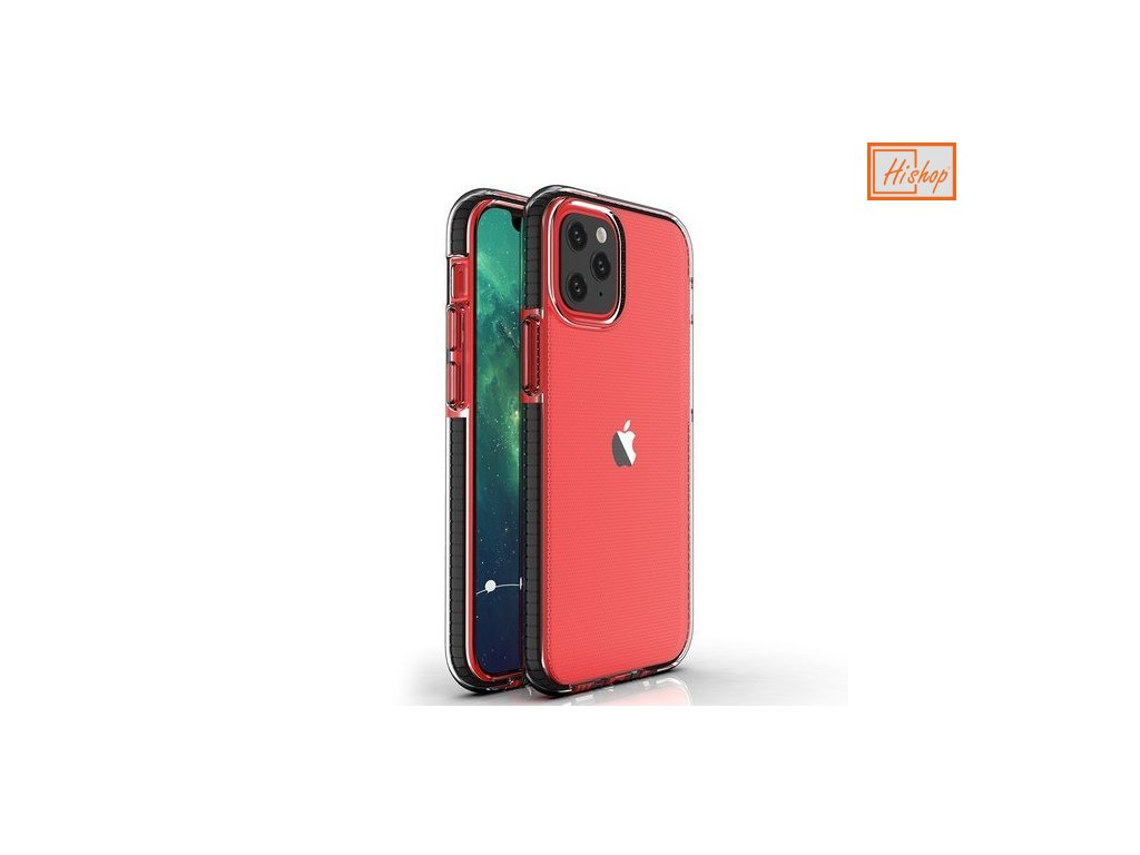 eng pm Spring Case clear TPU gel protective cover with colorful frame for iPhone 12 mini black 63312 1