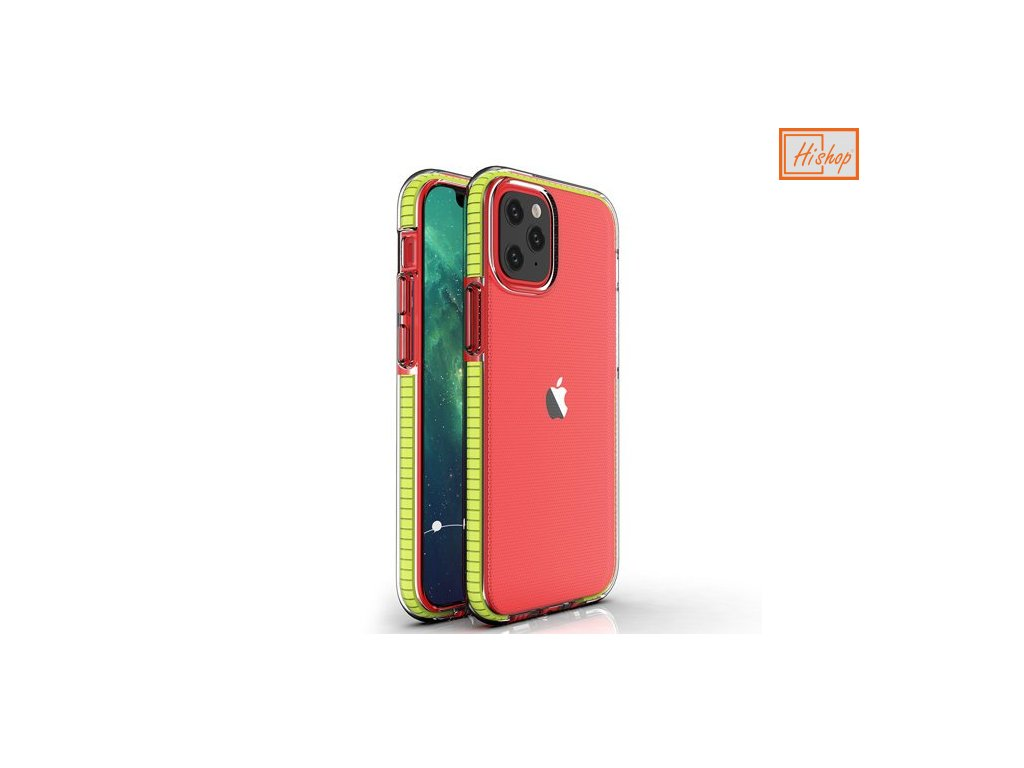 eng pm Spring Case clear TPU gel protective cover with colorful frame for iPhone 12 Pro iPhone 12 yellow 63325 1