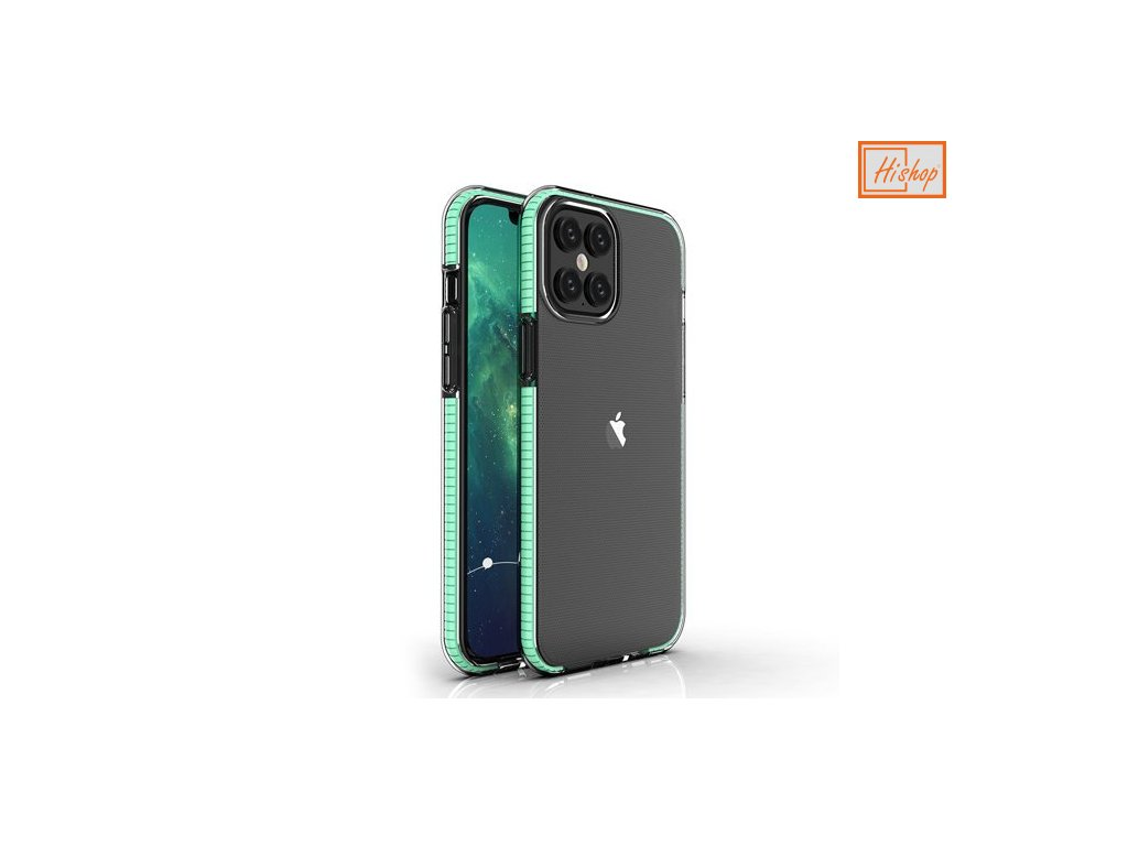 eng pm Spring Case clear TPU gel protective cover with colorful frame for iPhone 12 Pro Max mint 63329 1