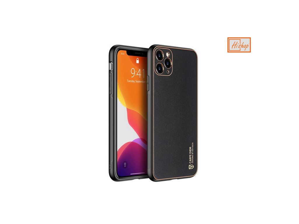 eng pm Dux Ducis Yolo elegant case made of soft TPU and PU leather for iPhone 11 Pro black 63368 1