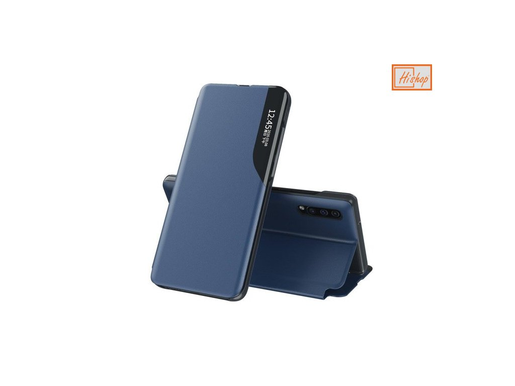 eng pm Eco Leather View Case elegant bookcase type case with kickstand for Huawei P30 blue 63612 1