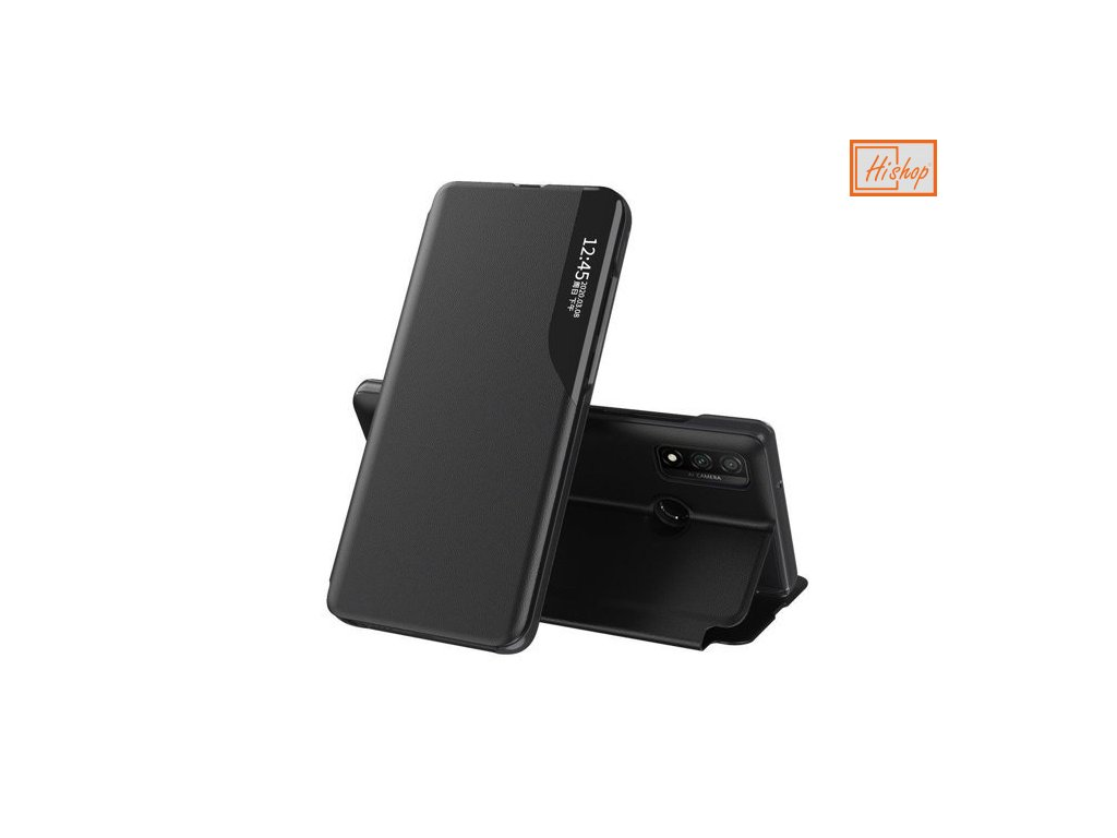 eng pm Eco Leather View Case elegant bookcase type case with kickstand for Huawei P30 Lite black 63623 1