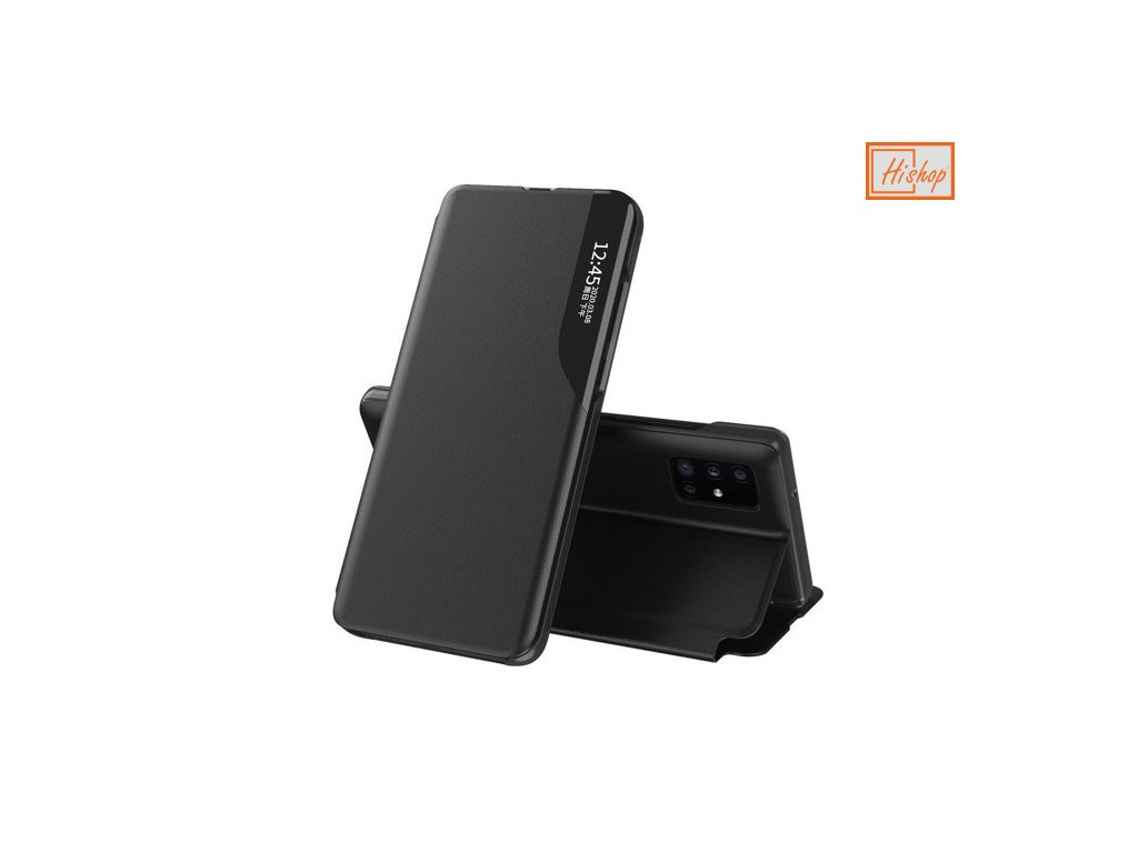 eng pm Eco Leather View Case elegant bookcase type case with kickstand for Huawei P40 black 63629 1