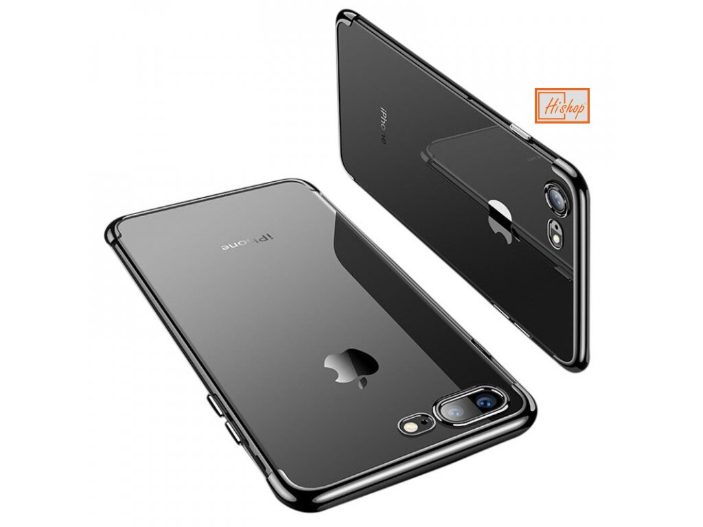 pol pl Clear Color case zelowy pokrowiec etui z metaliczna ramka iPhone 8 Plus iPhone 7 Plus czarny 59858 1