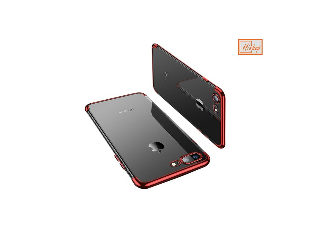 pol pm Clear Color case zelowy pokrowiec etui z metaliczna ramka iPhone 8 Plus iPhone 7 Plus czerwony 59860 14