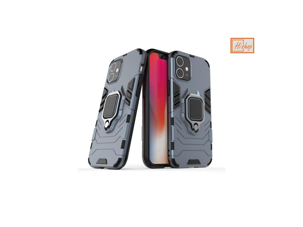 eng pm Ring Armor Case Kickstand Tough Rugged Cover for iPhone 12 mini blue 63823 1