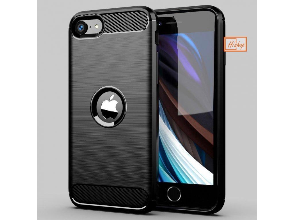 eng pl Carbon Case Flexible Cover TPU Case for iPhone SE 2020 black 60291 12