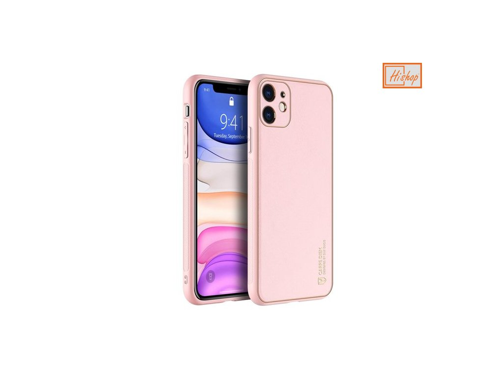 eng pm Dux Ducis Yolo elegant case made of soft TPU and PU leather for iPhone 12 mini pink 63994 1