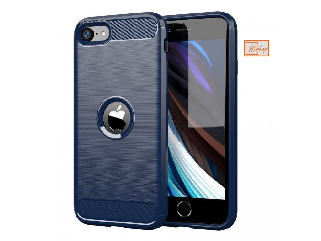 pol pl Carbon Case elastyczne etui pokrowiec iPhone SE 2020 niebieski 60292 1