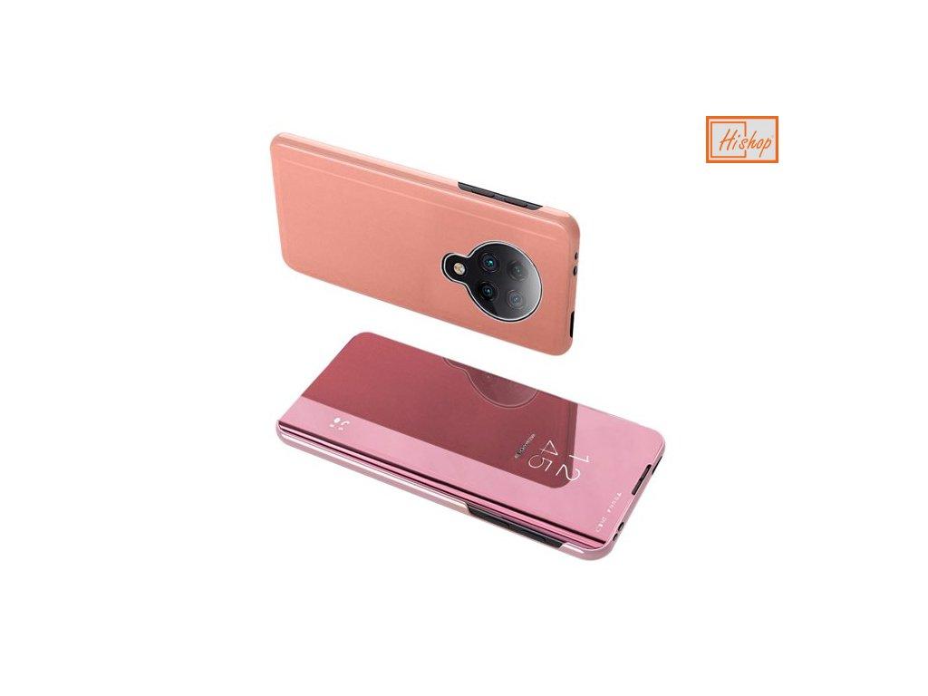 pol pm Clear View Case futeral etui z klapka Xiaomi Redmi K30 Pro Poco F2 Pro rozowy 60486 9