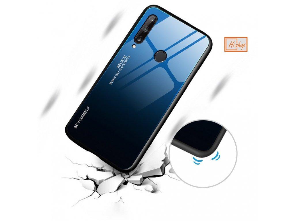 pol pl Gradient Glass etui pokrowiec nakladka ze szkla hartowanego Huawei P40 Lite E czarno niebieski 60551 7