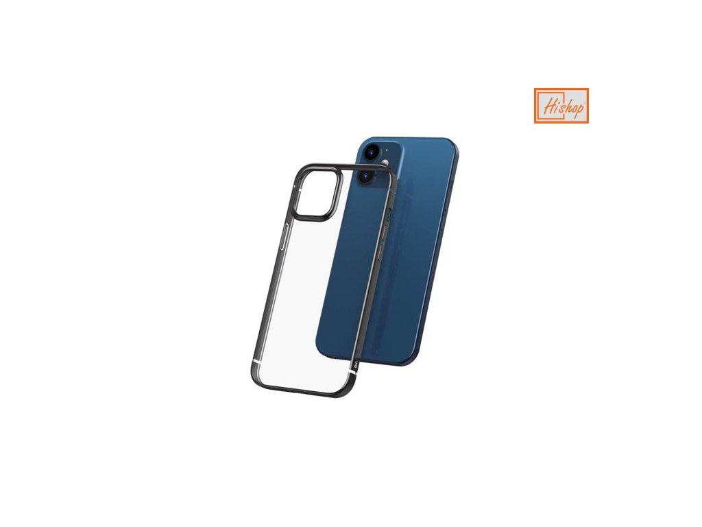 eng pm Baseus Shining Case Flexible gel case with a shiny metallic frame iPhone 12 Pro Max Starshine black ARAPIPH67N MD01 64073 1