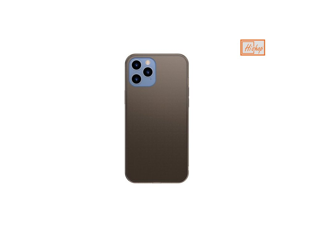 eng pm Baseus Frosted Glass Case Hard case with a flexible frame iPhone 12 Pro Max Black WIAPIPH67N WS01 64105 1