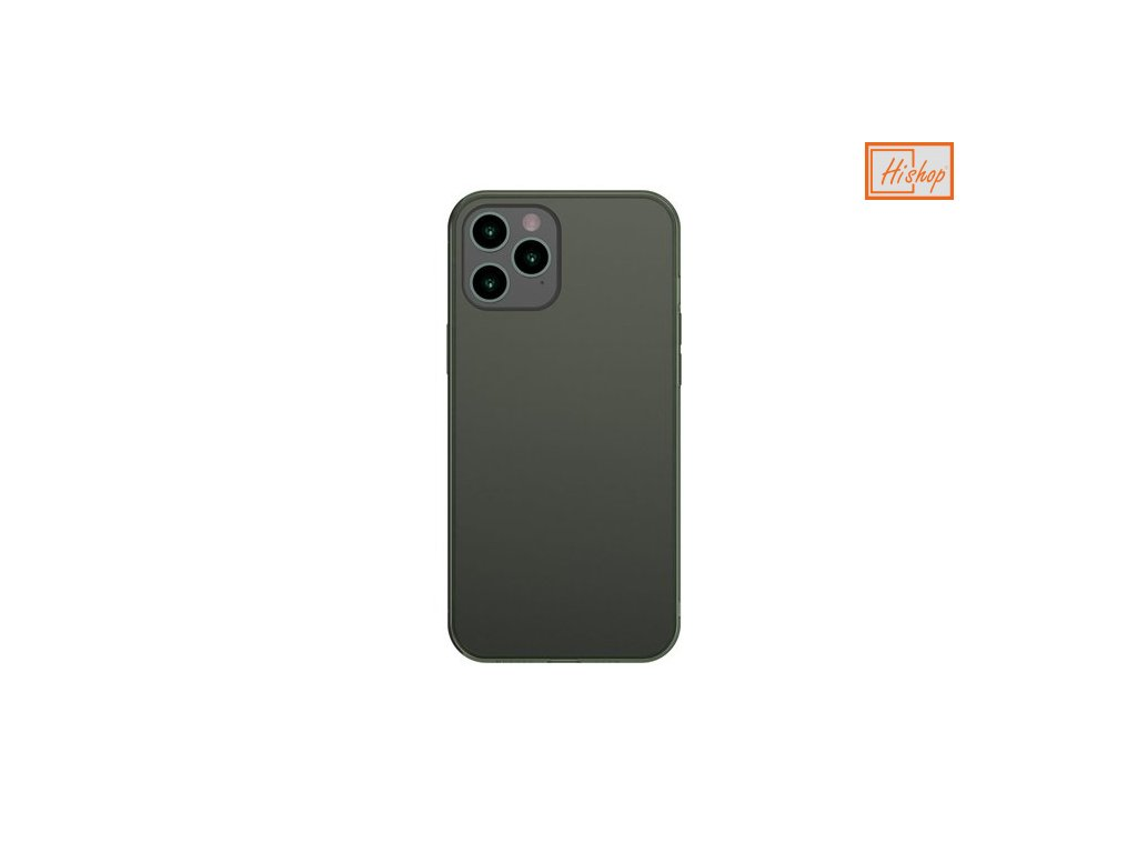 eng pm Baseus Frosted Glass Case Hard case with a flexible frame iPhone 12 Pro Max Dark green WIAPIPH67N WS06 64106 1