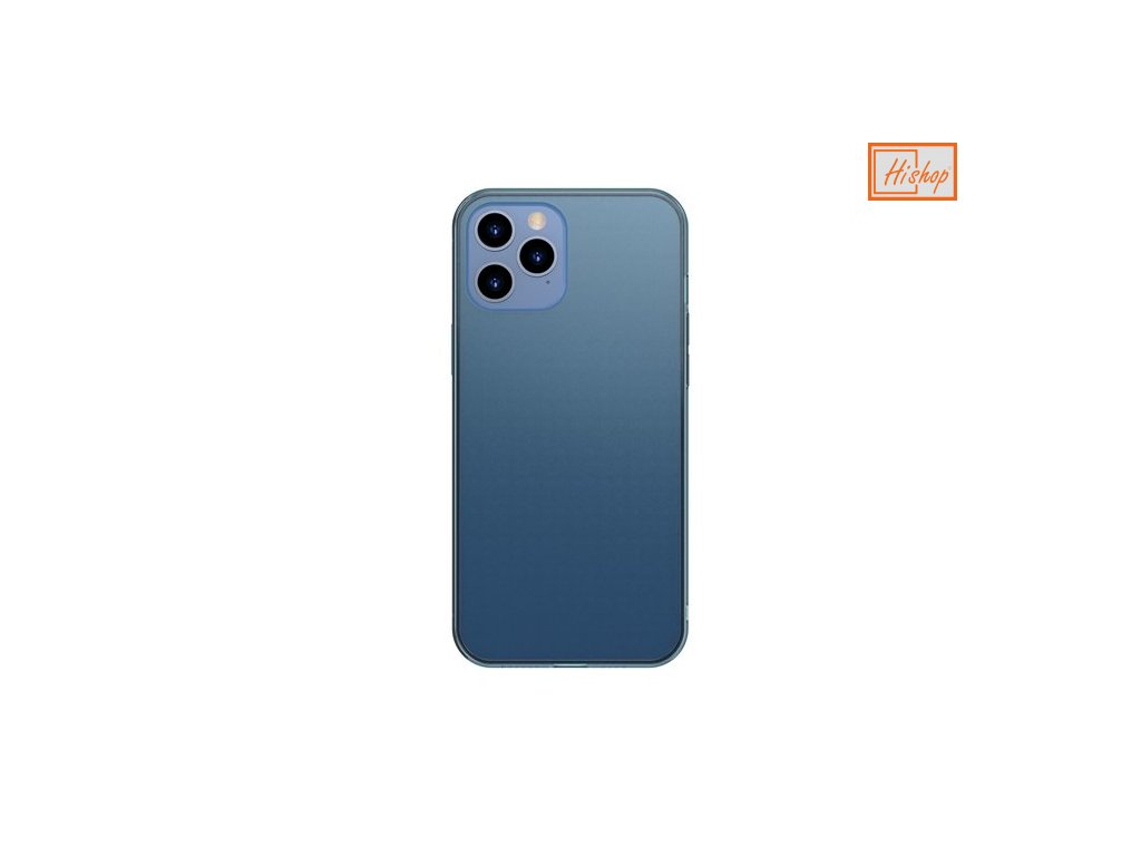eng pm Baseus Frosted Glass Case Hard case with a flexible frame iPhone 12 Pro Max Navy blue WIAPIPH67N WS03 64107 1