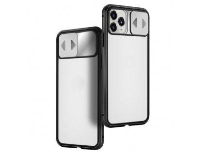pol pm Wozinsky Magnetic Cam Slider Case magnetyczne etui 360 na caly telefon szklo na ekran oslona na aparat iPhone 11 Pro czarny 61804 16