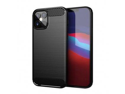 pol pm Carbon Case elastyczne etui pokrowiec iPhone 12 mini czarny 62404 1