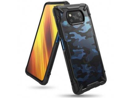 eng pm Ringke Fusion X Design durable PC Case with TPU Bumper for Xiaomi Poco X3 NFC Camo Black XDXI0017 65574 1