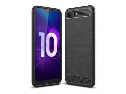eng pm Carbon Case Flexible Cover TPU Case for Huawei Honor 10 black 41429 1