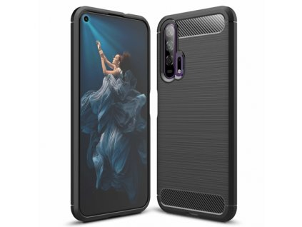 eng pm Carbon Case Flexible Cover TPU Case for Huawei Honor 20 20 Pro black 51827 1