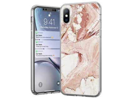pol pl Wozinsky Marble zelowe etui pokrowiec marmur iPhone XS iPhone X rozowy 53509 1