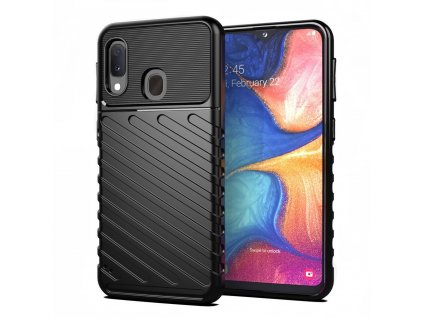 pol pl Thunder Case elastyczne pancerne etui pokrowiec Samsung Galaxy A20e czarny 56360 1