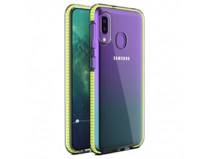 eng pm Spring Case clear TPU gel protective cover with colorful frame for Samsung Galaxy A20e yellow 59132 1