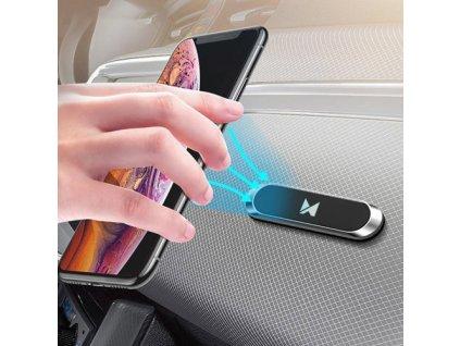 pol pm Wozinsky samoprzylepny magnetyczny uchwyt samochodowy na deske rozdzielcza czarny WMH 01 55997 1