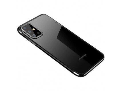 pol pm Clear Color case zelowy pokrowiec etui z metaliczna ramka Samsung Galaxy A41 czarny 62534 1