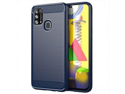 pol pm Carbon Case elastyczne etui pokrowiec Samsung Galaxy M30s Galaxy M21 niebieski 60059 1