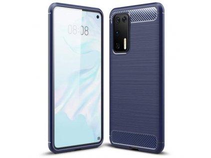 pol pm Carbon Case elastyczne etui pokrowiec Huawei P40 niebieski 59742 1