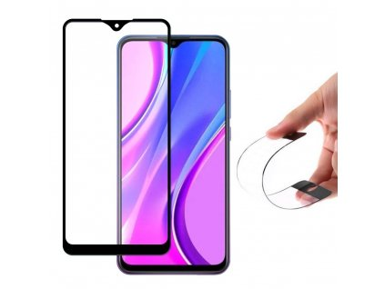 eng pm Wozinsky Full Cover Flexi Nano Glass Hybrid Screen Protector with frame for Xiaomi Redmi 9 black 62518 1