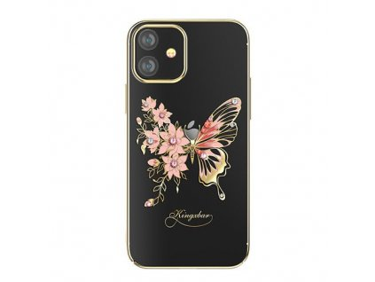eng pm Kingxbar Butterfly Series shiny case decorated with original Swarovski crystals iPhone 12 mini golden 63176 1